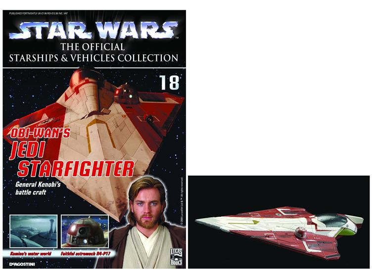 OBI WAN/'S JEDI STARFIGHTER MODEL /& MAG #18 Star Wars Starships /& Vehicles