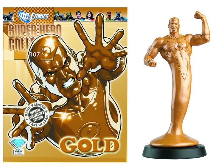 "DC SUPER HERO COLLECTION #107 /""GOLD/"" FIGURINE EAGLEMOSS"