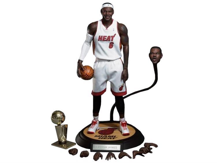 "1//6 SOLDATO NBA Lebron James Black testa intaglio Fit 12/"" Body Action Figure Toys"