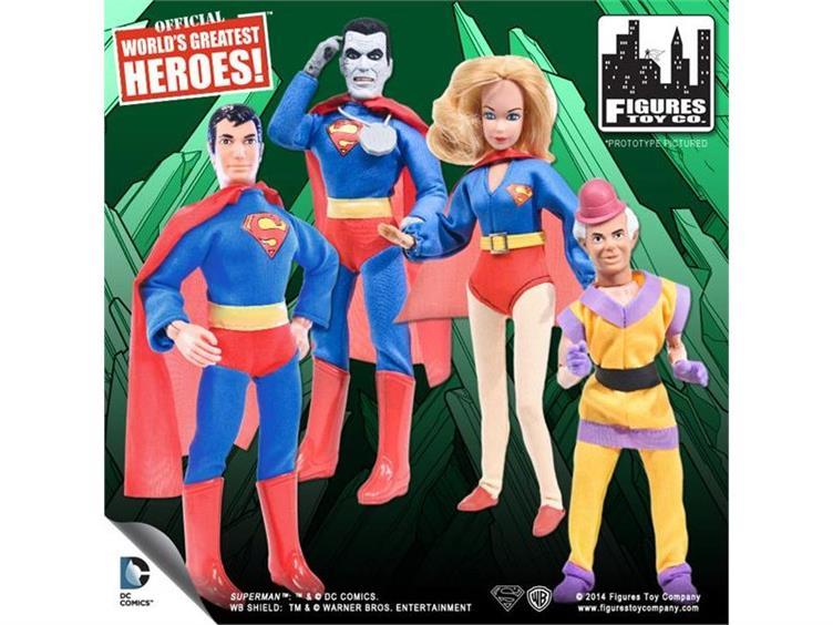 "WORLDS GREATEST HEROES SUPERMAN 8/"" 2014 WB NEW DC COMICS BIZARRO NO 1 TOY CO"