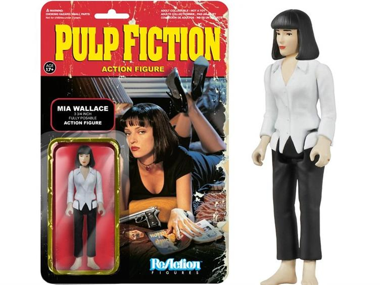 Pulp Fiction Mia Wallace ReAction 3 3//4-Inch Retro Action Figure