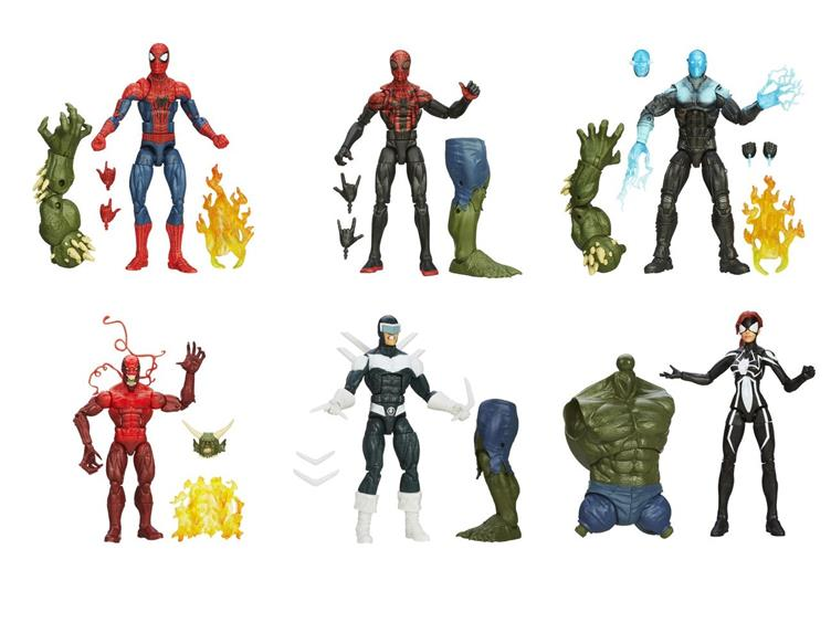 Marvel Legends Spiderman BLACK SUIT SPIDER GIRL Skyline Sirens BAF GREEN GOBBLIN