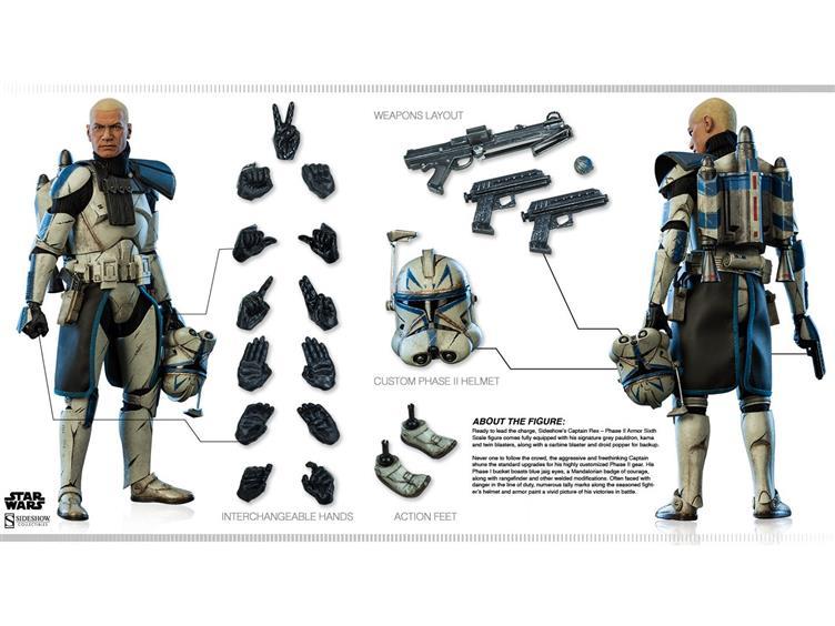 "Star Wars 1//6 Commander Fox Phase 2 Clone Trooper Helmet For Custom 12"" Figure"