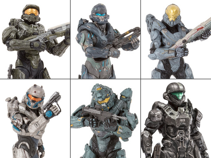 Halo 5 Guardians Figure Best Of Halo Series Set Of 6
