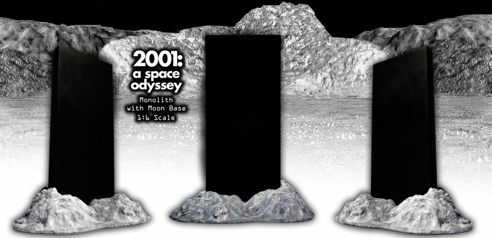 2001 a space odyssey 1 6 scale monolith moon base a space odyssey 1 6 scale monolith