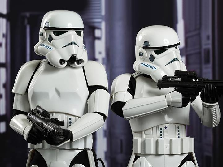 Star Wars A New Hope Mms268 Stormtroopers 1 6th Scale Collectible Figures Set