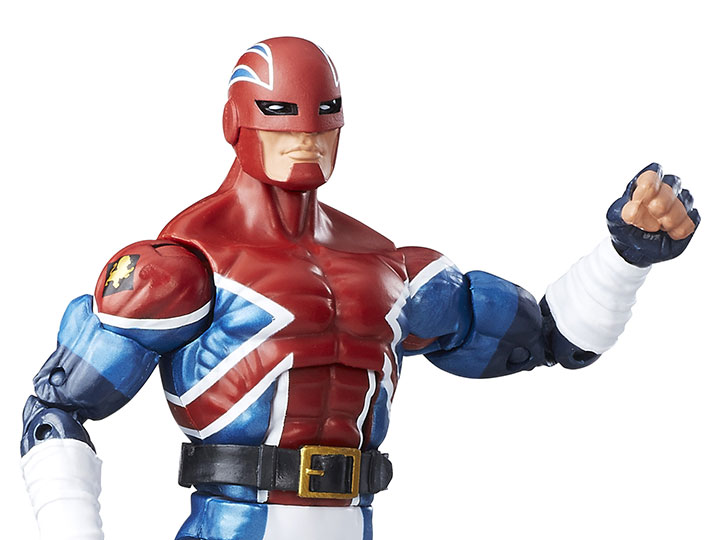 Marvel Legends 6 inch Series Energized Emissaries Captain Britain BAF NEW in Box