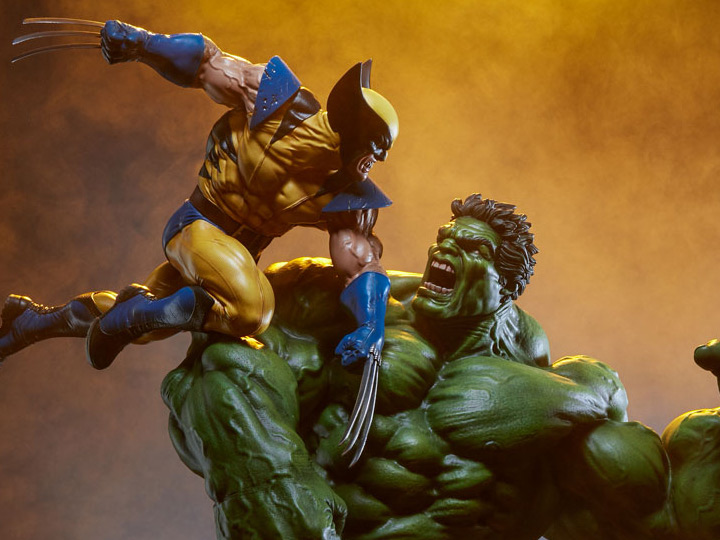 In Stock 12/'/' Marvel Hulk VS Wolverine PVC /& ABS Statue Figure Model Toys New