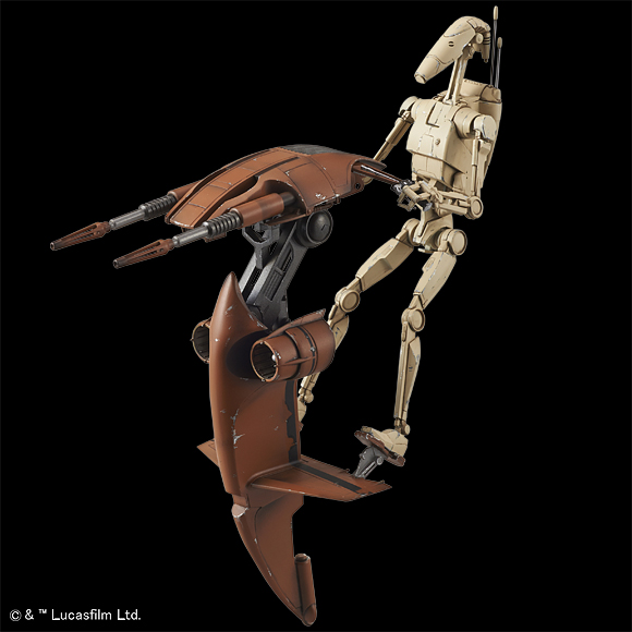 Bandai 1//12 Plastic Model Kit Star Wars BATTLE DROID /& STAP Japan import NEW