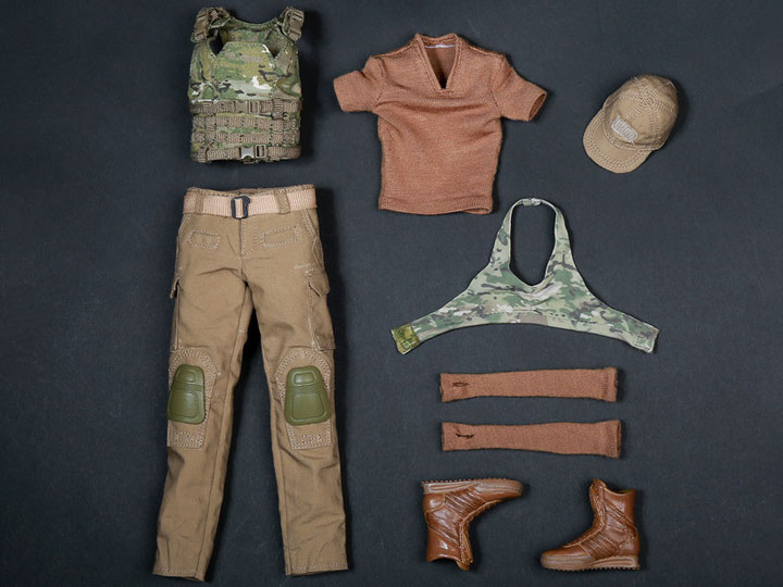 1//6 Scale Toy Female Tan Shooter Cap