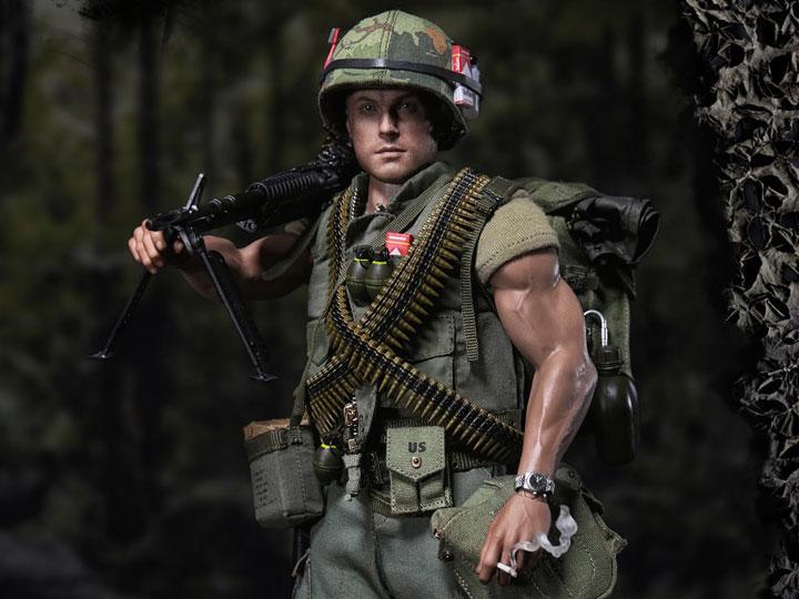 1:6 Scale DAM Toys 78038 Vietnam US Marine Gunner Head Sculpt