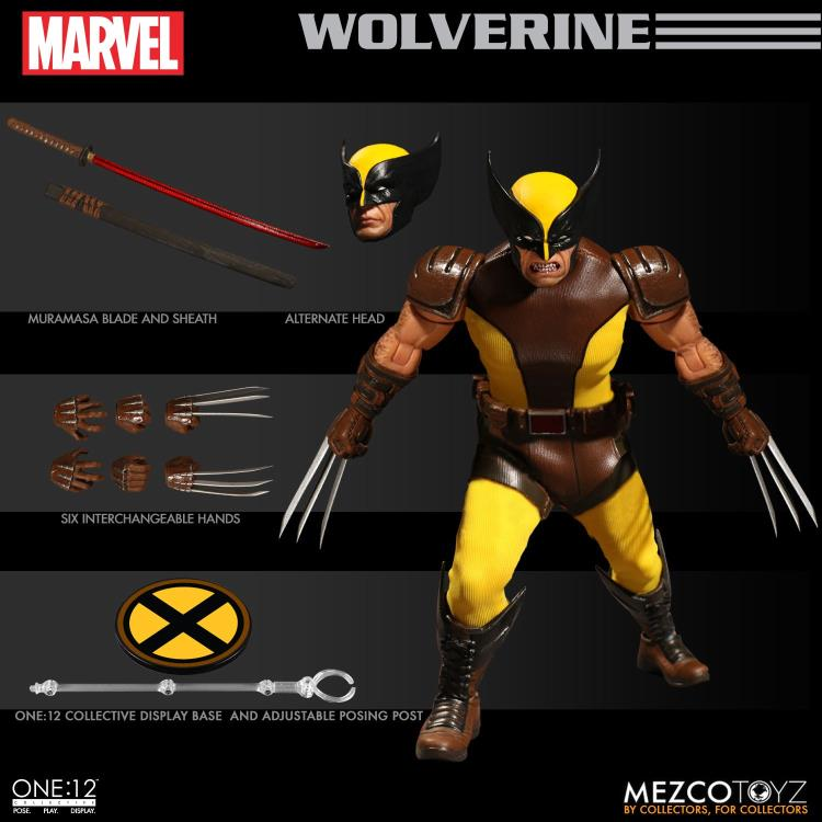 """1//12th Mezco Wolverine Soldier Hand Type Model for 6/"""" Action Figure Doll Toys"""