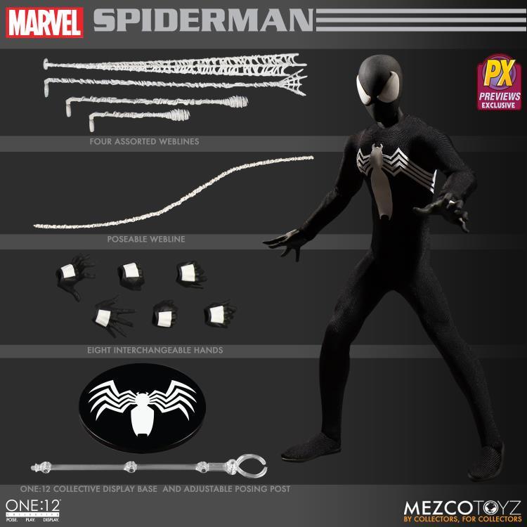 1//12 scale Black Suit for Mezco Joker Gomez Body MM-SUIT-BK No Figure