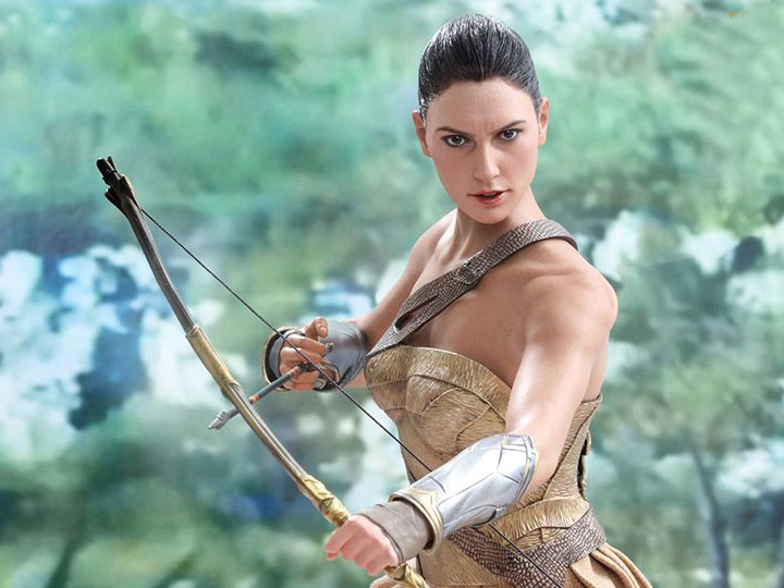 Training Armor Version Figure 1//6 ENGRAVED BOW Hot Toys MMS424 WONDER WOMAN