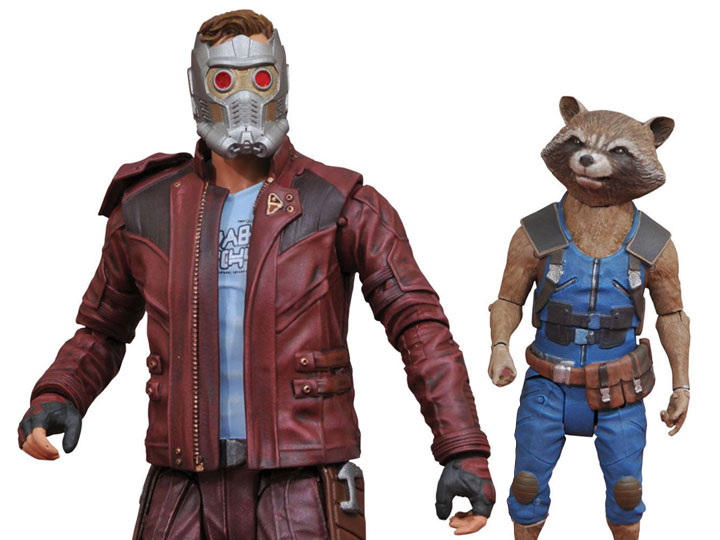 DIAMOND SELECT  Guardian of the Galaxy vol 2 Star Lord /& Rocket R Action Figure