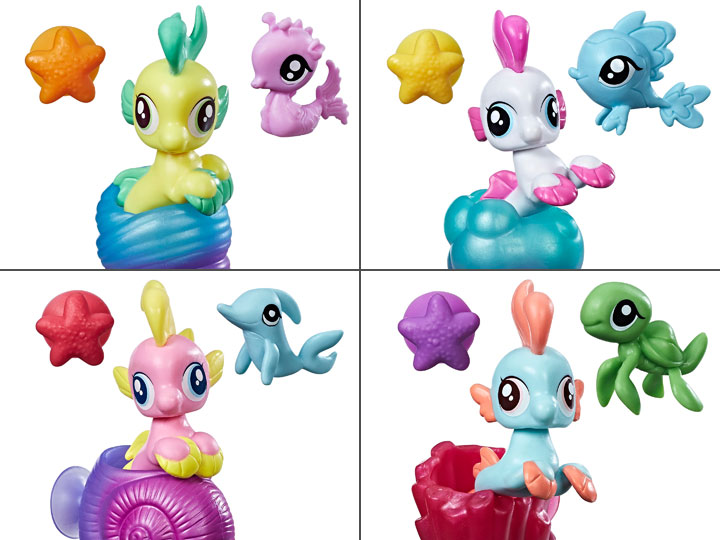 My Little Pony: The Movie Baby Sea Ponies & Hippogriffs Wave 1 Set Of 4