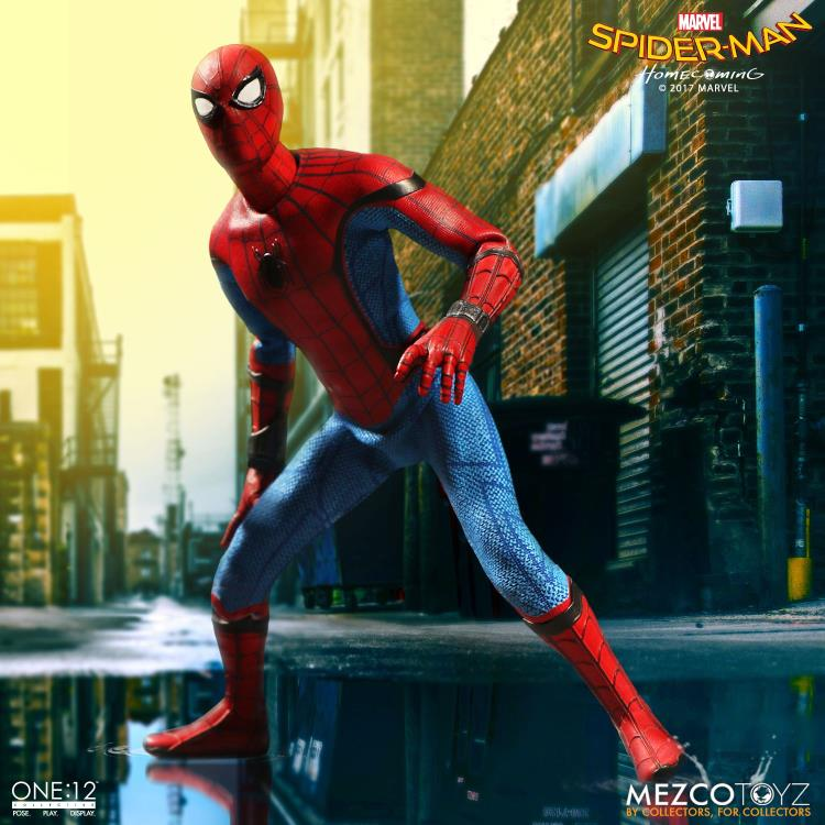 Mezco Marvel Avengers HomeComing Spider Man One:12 Collective Action Figure Toy