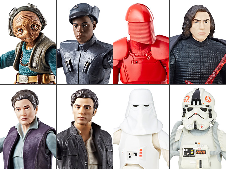 Captain Poe Dameron and General Leia Organa Hasbro Star Wars The Black Series Episode 8 Bundle with Maz Kanata