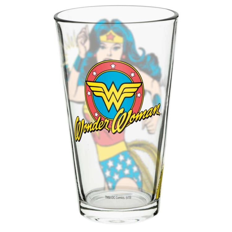 123587 WONDER WOMAN SET OF 2 SQUARE SPIRIT GLASSES DC COMICS