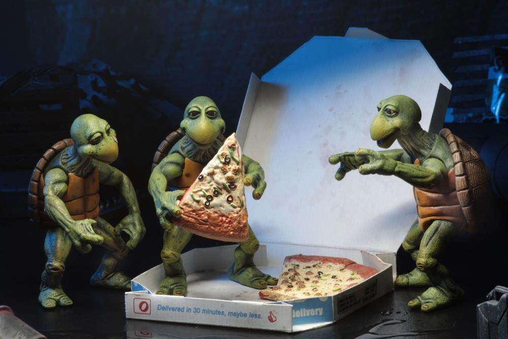 Teenage Mutant Ninja Turtles Baby Set of 4 Deluxe Box NECA TMNT 1990 movie ver