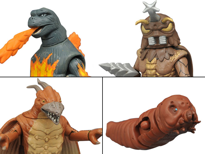Godzilla Minimates Series 3 Mothra Larvae