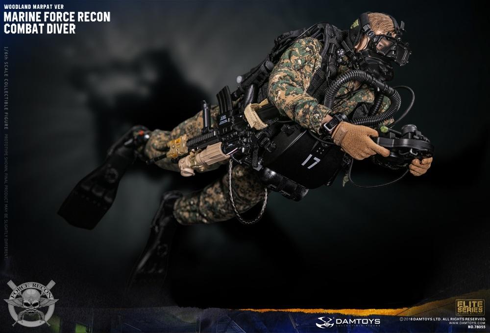 1//échelle 12 Jouet-Marine Force Recon-Woodland combat ensemble uniforme