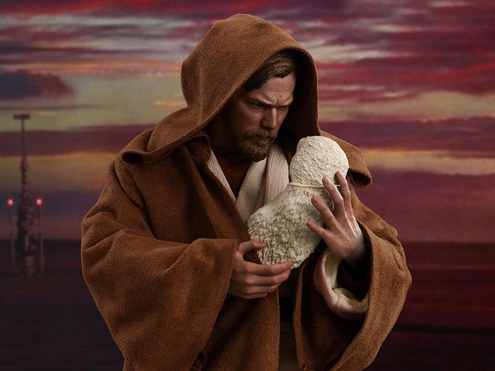 Star Wars Revenge Of The Sith Mms477 Obi Wan Kenobi Deluxe 1 6th Scale Collectible Figure