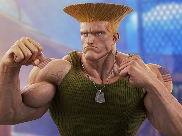 Street Fighter Guile 1 4 Mixed Media Statue