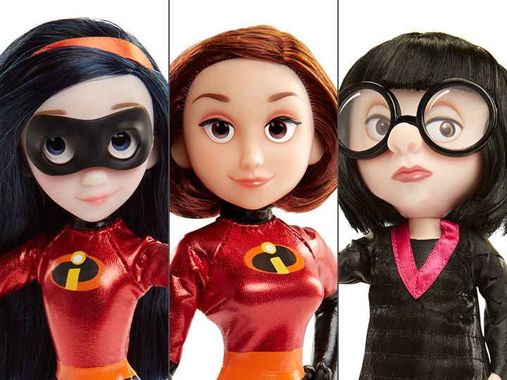 Incredibles 2 Costumed Action Figure Set Of 3