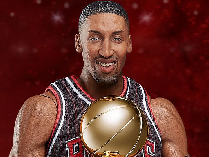 super popular 3045b ff30e NBA Real Masterpiece Scottie Pippen (Black Jersey) 1/6 ...
