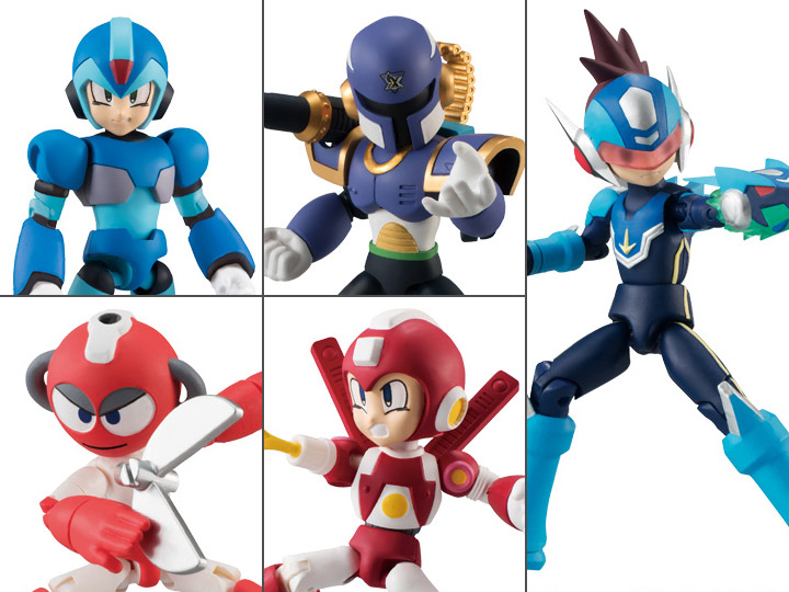 Bandai 66 Action 66ACTION Rockman Mega Man Action Figure Vol 2 Set of 5
