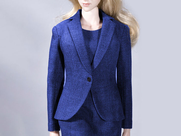 1//6th Scale Navy Blue Dress Outfit Set