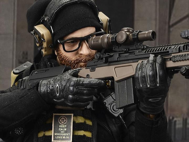 Black /& Brown Metal Blaser R93 Sniper Rifle 1//6 scale toy Urban Sniper