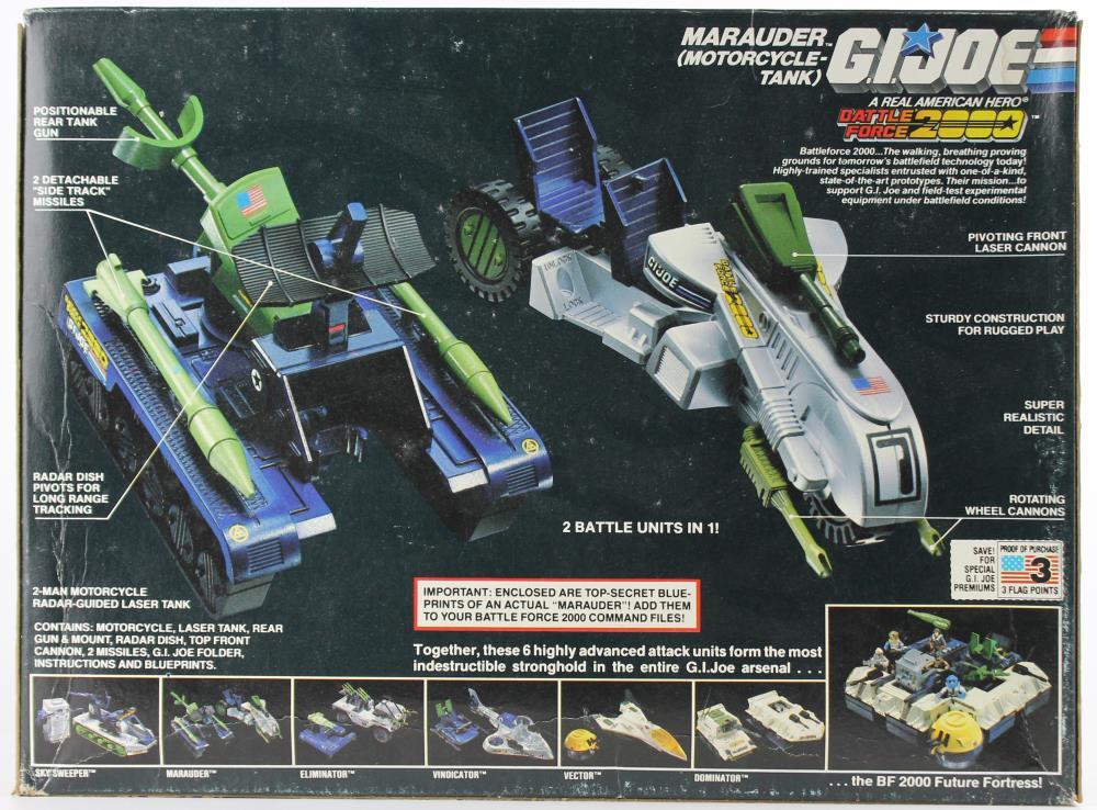 GI JOE véhicule Battle Force 2000 Marauder Hood CANON GUN 1987 pièce d/'origine