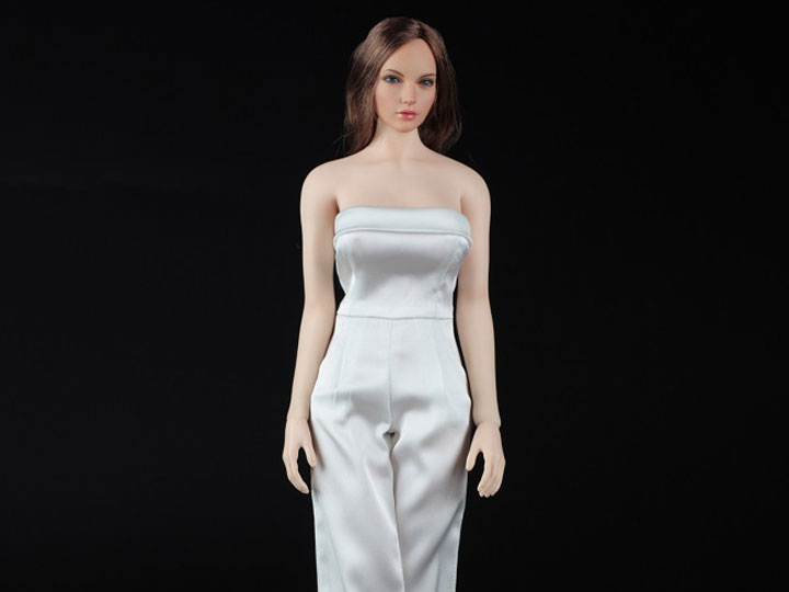 """Details about  /1//6 Scale Female Clothes White Printed One-piece Leather Jumpsuits F 12/"""" Doll"""