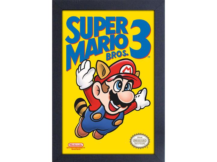 Super Mario Bros 3 Cover Framed Art Print
