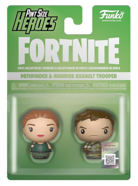 Pathfinder /& Highrise Assault Trooper 2-Pack Funko Pint Size Heroes Fortnite
