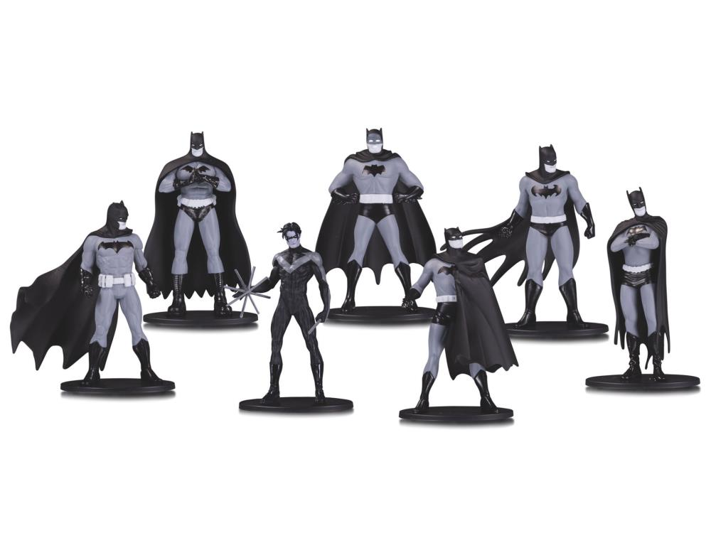 DC Collectibles Batman Black /& White Mini Figure 7 Pack box set one