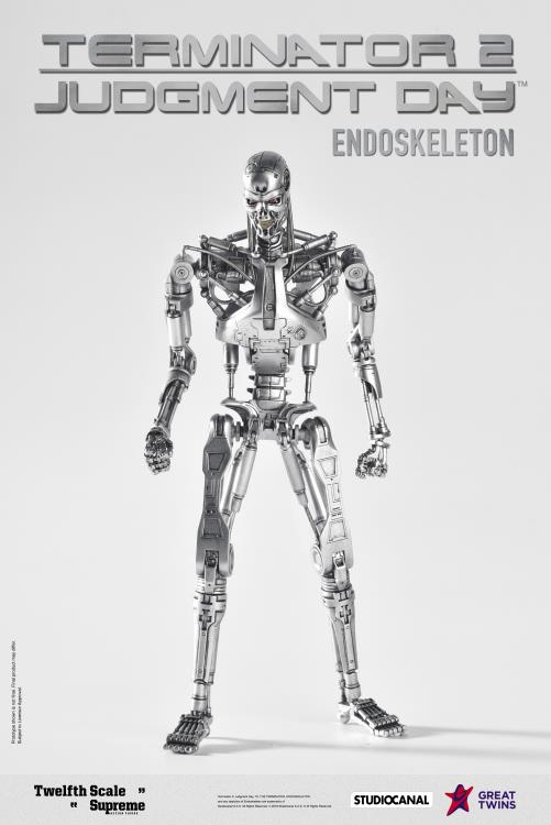 Terminator 2,Judgment Day 1//12 scale Supreme T-800 Endoskeleton Action Fig Co.Ed