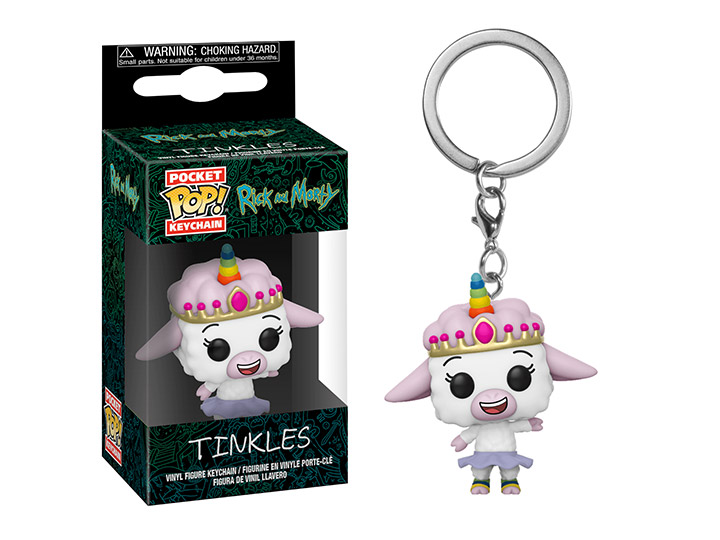 Funko Pocket Pop Rick /& Morty Pickle Rick Figure Keychain