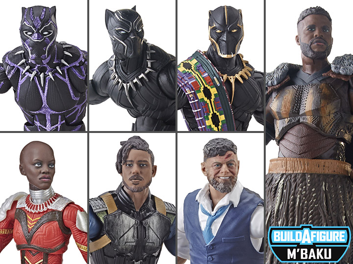 IN HAND Marvel Legends Black Panther Wave 2  M/'Baku BAF SET OF ALL 6 Figures!!