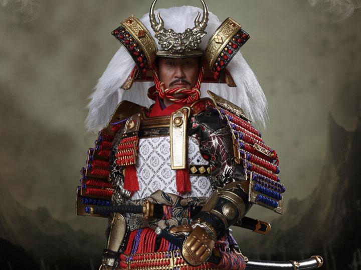 COOMODEL SERIES OF EMPIRES METAL ARMOR BLACK AND GOLD KABUTO HELMET 1//6