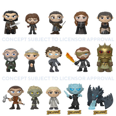 dorbz Mystery Minis ricevuto POPS Display Stand GAME OF THRONES FUNKO Pops Pops.