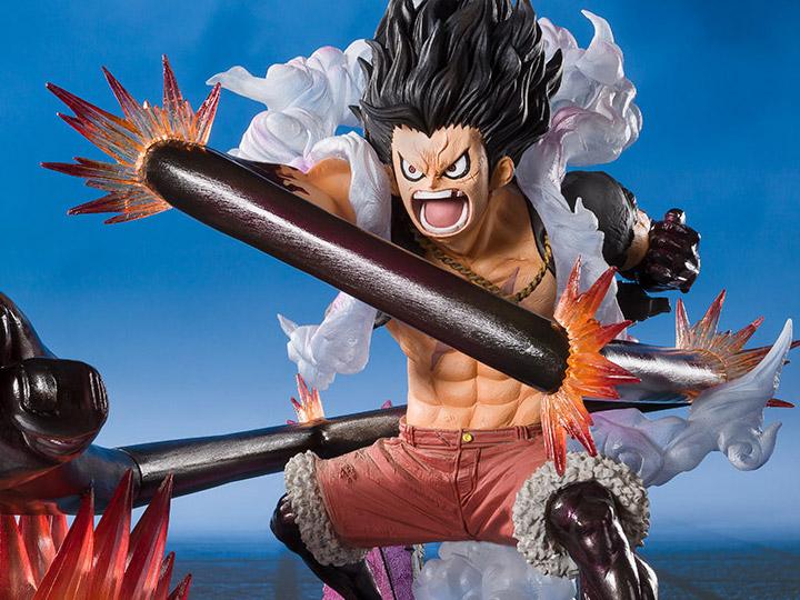 One Piece Luffy Monkey D Luffy Gear 4 Snake Man 28CM PVC Action Figure Model Dol