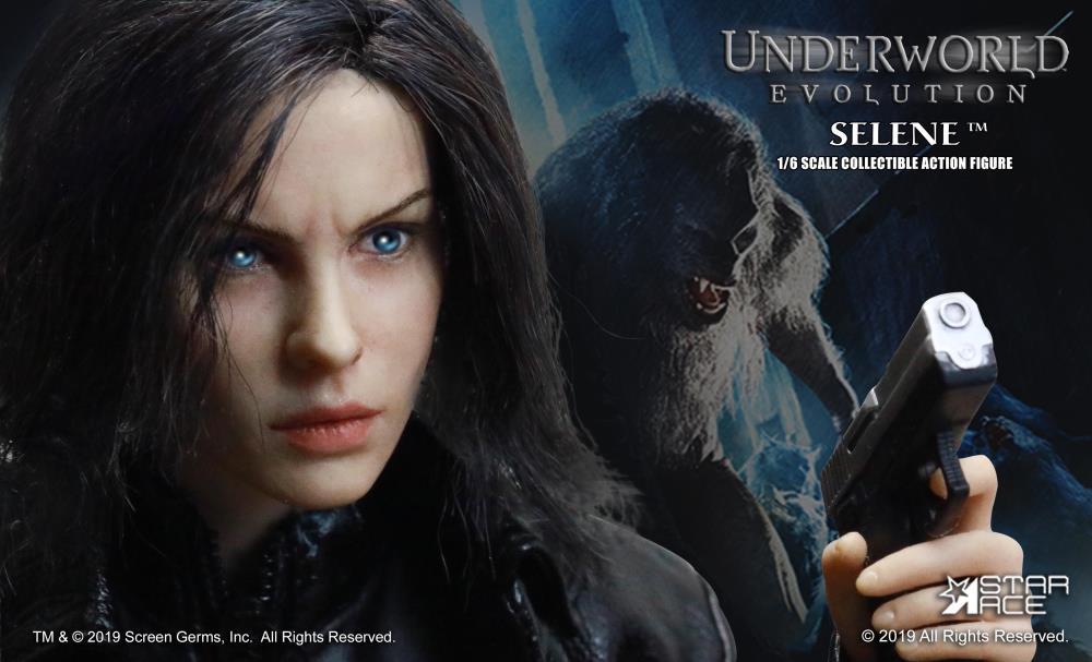 Selene Underworld 1//6 Female Head Carving Unpainted Model Accessory Kit