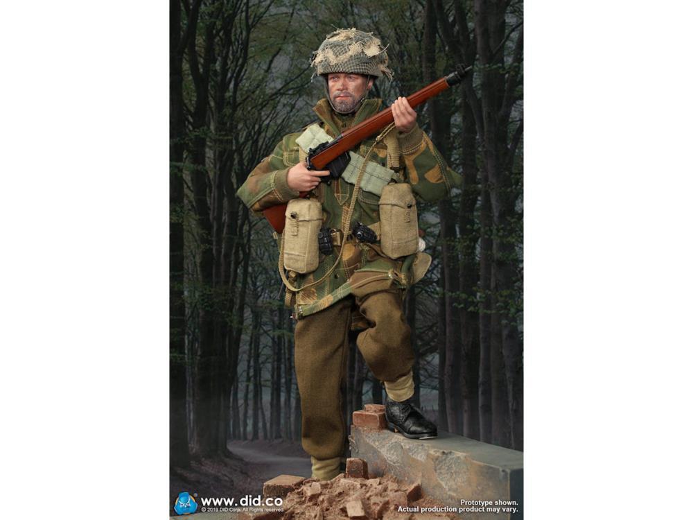 Charlie Red Devils Sargent-Casque avec filet /& Camo Bandes 1//6 Scale DID figures A