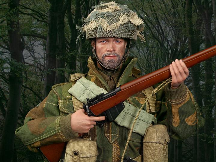 "DID K80136 1//6 WWII British 1st Airborne /""Red Devils/"" Sergeant Charlie Backpack"