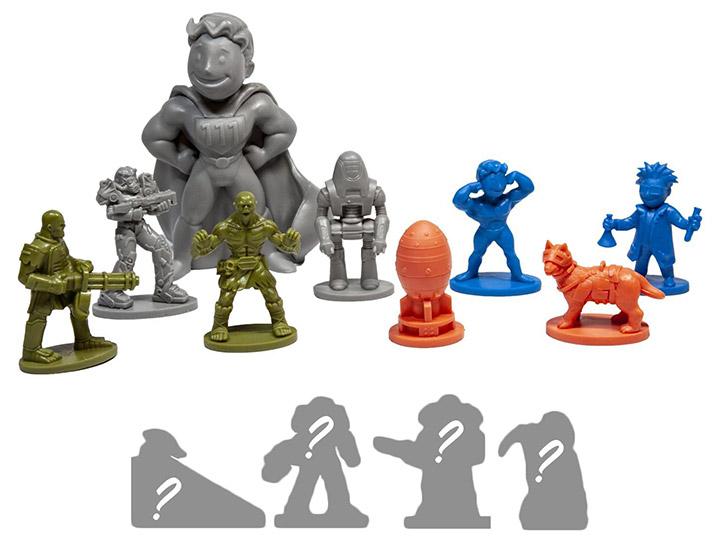 Set of 4 Fallout Nanoforce Series 1 Army Builder Figure Box Sets
