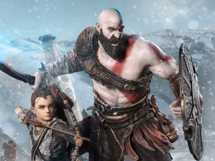 God Of War Kratos Atreus 1 10 Deluxe Art Scale Limited
