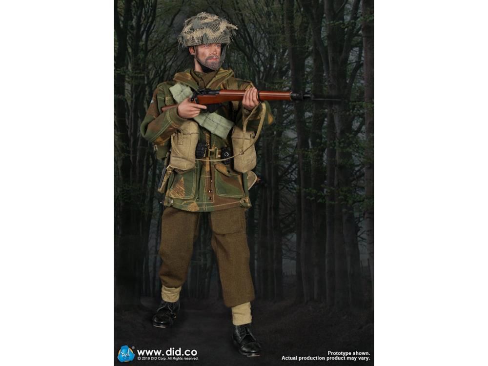 B Charlie 1//6 Scale-DID Action Figures Red Devils Sargent-Sac à dos /& corde